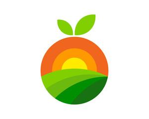 Fruit Farm Icon Logo Design Element