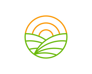 Farm Icon Logo Design Element