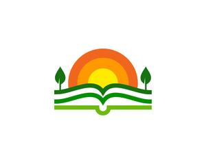 Farm Book Icon Logo Design Element