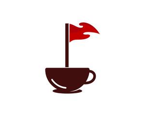Golf Coffee Icon Logo Design Element