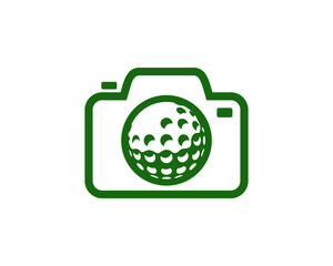 Camera Golf Icon Logo Design Element