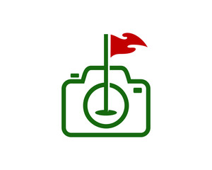 Golf Camera Icon Logo Design Element