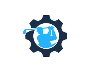 Golf Gear Icon Logo Design Element