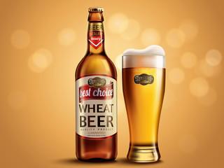 Wheat beer package design