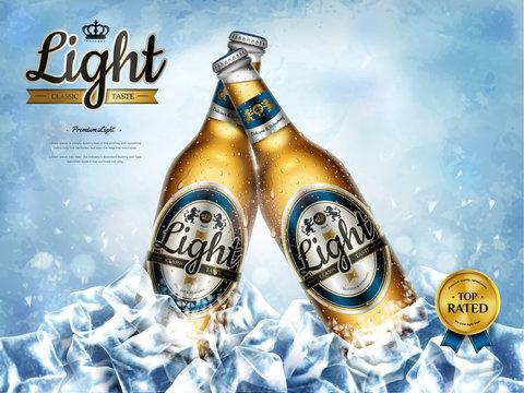 Chilling light beer ads