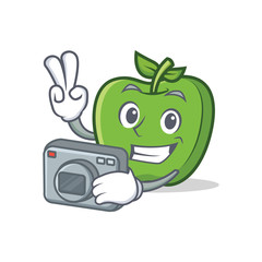 Photography green apple character cartoon