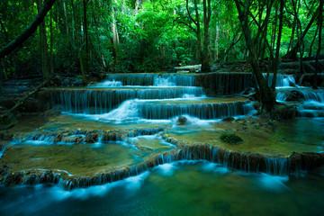 Wall Murals Waterfalls hauy mae kamin waterfalls in kanchaburi thailand