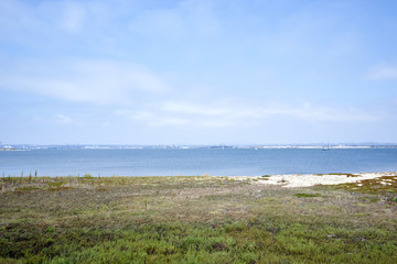quiet Silverstrand beach, looking towards San Diego