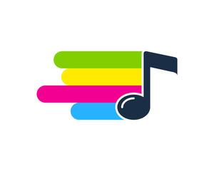 Paint Music Icon Logo Design Element