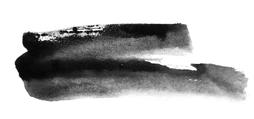 Black ink. Watercolor brushes