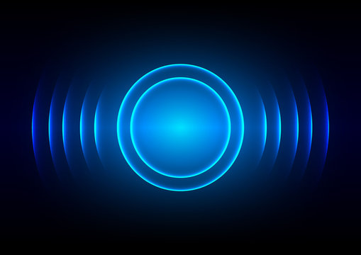 abstract digital sound wave blue light background