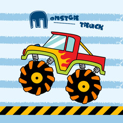 monster truck - vector illustration for children.