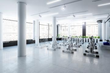 Ergometer im Fitness-Zentrum (Vision)