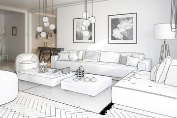 Raumgestaltung: Sitzgarnitur (Projekt)