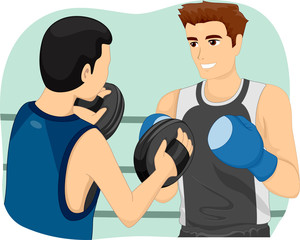 Man Boxing Workout Instructor