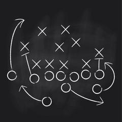 Vector Football Play. Football America. Touchdown