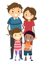 Stickman Family Adopt Race