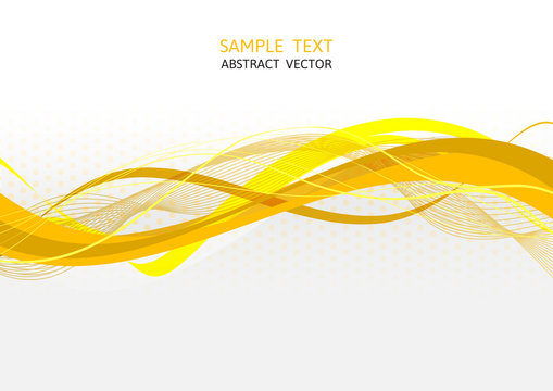 Yellow wave abstract vector