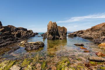 Cala en la Playa de las Furnas, Porto do Son, La Coruña, Galicia.