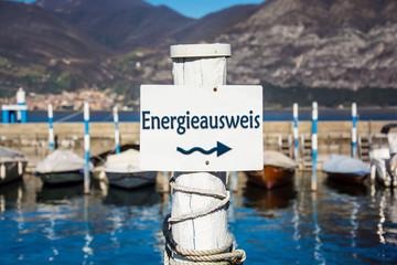 Schild 232 - Energieausweis
