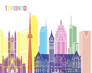 Wall Mural - Toronto V2 skyline pop