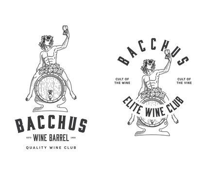 Bacchus Wine Club black on white