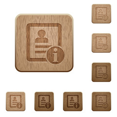 Contact information wooden buttons