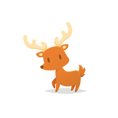 Cartoon deer vector illustration