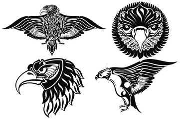 Collection of eagle symbols
