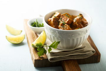 Chicken curry with fresh lime