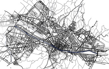 vector map of the city of Florence, Italy
