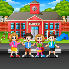 Children standing on the street