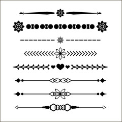 web elements set dividers for design eps 10 vector