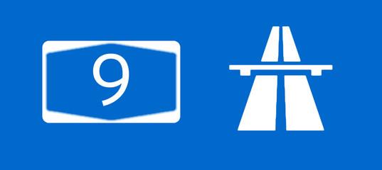 A9 Bundesautobahn Schild