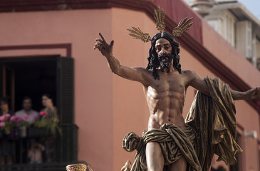 Fototapete - paso de misterio de la hermandad de la resurrección, semana santa de Sevilla