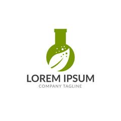 green nature lab vector logo