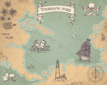 Ancient treasure map