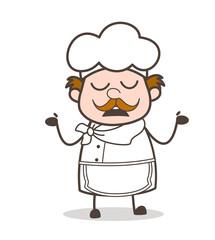 Cartoon Chef Showing Empty Hands Vector Concept