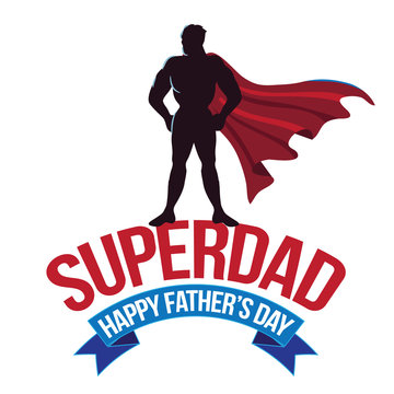 Happy Fathers Day design with super dad. EPS 10 vector.