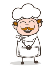 Cartoon Cheerful Funny Chef Laughing Face