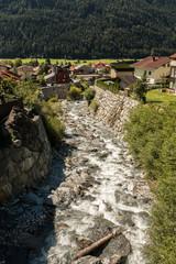 Wasserlauf für Schmelzwasser