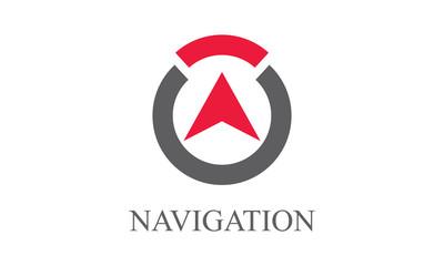 Round navigation logo