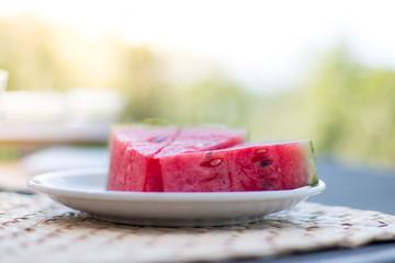Saftige Melone im Sommer