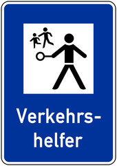 ks218 Kombi-Schild - Achtung / Aufmerksamkeit / Zeichen: Verkehrshelfer - Schulweghelfer - Schülerlotsen - A2 A3 A4 Plakat - xxl g5373