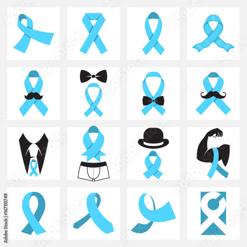 Prostate Cancer Awareness Symbols Stock Image And Royalty Free