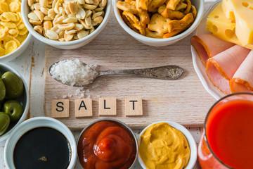 Selection of salt high in salt