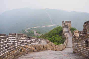 Fotobehang Chinese Muur Mutianyu section of Great Wall of China