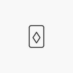 Playing cards outline icon vector, can be used for web and mobile design