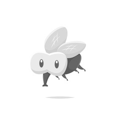 Cartoon fly insect vector isolated