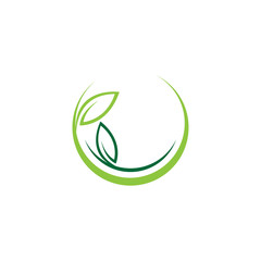 circle nature leaf green logo vector